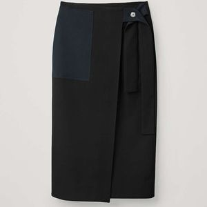 COS wrap midi skirt